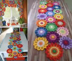 Visit the webpage to learn more about window coverings french Click the link to read more. Crochet Mat, Crochet Crafts, Crochet Hooks, Free Crochet, Crochet Flower Patterns, Crochet Flowers, Leaf Patterns, Flower Curtain, Japanese Flowers