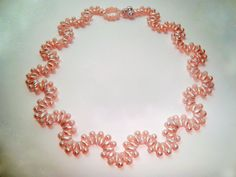 Free pattern for beautiful necklace Lilac Wine