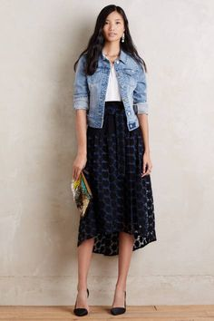 Hana Lace Midi Skirt by Tsumori Chisato   Pinned by topista.com