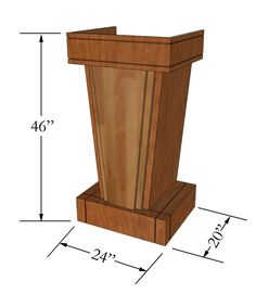#SMALLPODIUM John Harris Custom Podium - Pre-installed microphone shock mont