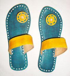 CHAUSSONS de cuir jaune chaussures en cuir des chaussures à