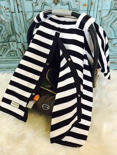 car seat canopy Black and White stripe / carseat canopy / carseat cover / car seat cover / nursing cover & JJ Cole Original Toddler Bundleme Graphite Toddler JJ Cole http ...