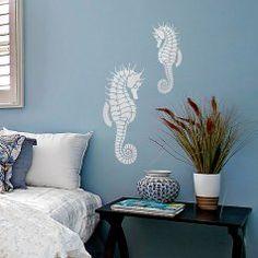 Seahorse-design-stencil-beach-style