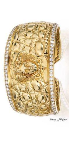 It's a Colorful Life ~ — Versace Gold Jewelry, Jewelery, Vintage Jewelry, Jewelry Accessories, Fashion Accessories, Fine Jewelry, Fashion Jewelry, Diamond Bracelets, Bangle Bracelets