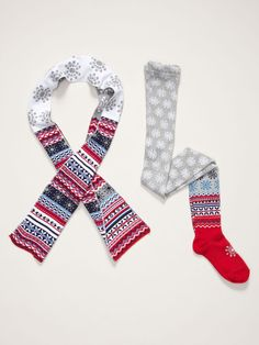 Nordic Tight & Scarf Set by Jefferies Socks