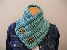 Crochet Cowl With Buttons - etsy