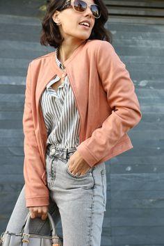 I love Fita Métrica: Coral Suede Jacket