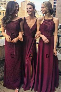 A-Line Bridesmaid Dresses,V-Neck Bridesmaid Dresses,Grape Bridesmaid Dress,Cheap Bridesmaid Dresses,Chiffon Bridesmaid Dresses.Split Bridesmaid Dress