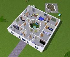 Atrium Bungalow 15 130 / 16 Variante 2 Grundriss mit Erker und Turm ...