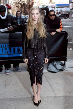 Amanda Seyfried visits The Daily Show With Jon Stewart at TDS Studios in New York City on March 17, 2015.