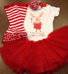Olivia the pig outfit Olivia the pig birthday by SaraSewtique, $31.99 You can order this outfit from my facebook page: Sara's Sewtique