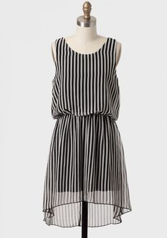 S'il Vous Plait Bow Back Striped Dress | Modern Vintage New Arrivals