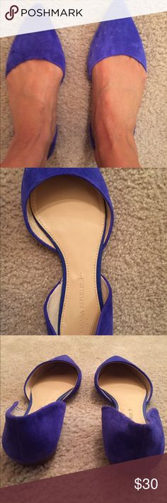 Blue suede Banana Republic flats Banana Republic blue suede flats. Only work a few times like new. These shoes are perfect for the summer! Banana Republic Shoes Flats & Loafers
