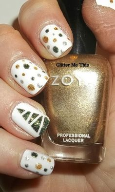 Christmas - metallic dots