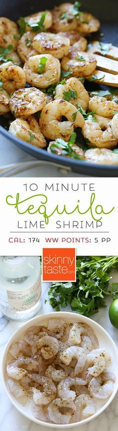 Tequila Lime Shrimp – easy, delicious and ready in less than 10 minutes! A Cinco De Mayo must!