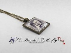 Eugene O'Neill Postage Stamp Necklace, Playwright, Anna Christie, Desire Under The Elms, Mourning Becomes Electra, Ah Wilderness on Etsy, $13.00