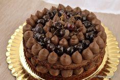 Romanian Desserts, Mon Cheri, Something Sweet, Yummy Cakes, Chocolate Cake, Cake Recipes, Mousse, Sweet Treats, Food And Drink