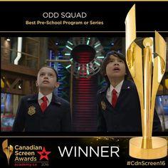 Congrats #OddSquad @TVOKids on your #CdnScreen16 Best Pre-School Program or Series win!