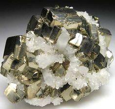 Pyrite w/ Quartz / Morococha Mine, Peru