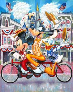 New Disney Fine Art Debuts at the Walt Disney World Resort by Michelle Harker Walt Disney, Disney Films, Disney Fun, Disney Magic, Disney Parks, Disney Characters, Fictional Characters, Images Disney, Disney Pictures