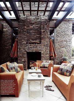 Phillipe Starck's outdoor sofa and armchairs: living in orange