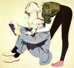 Illustration by John Frederick Smith Vintage Romance, Vintage Art, Frederick Smith, Art Amour, People Reading, Vintage Couples, Tumblr, Love Art, Art Girl