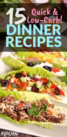 Quick low-carb dinner recipes for the weeknight that will help you lose weight and have healthy meals ready to go! | Healthy recipes for weight loss| http://avocadu.com/quick-low-carb-dinner-recipes/