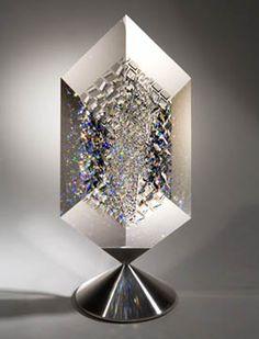 """Deep Imagination"" x x 6 Parallogram Prism on spinner by Jon Kuhn Glass Ceramic, Ceramic Pottery, Jack Storms, Art Connection, Seattle Art, Glass Art, Ceramics, Gallery, Imagination"