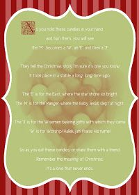 It Works For Bobbi!: M&M Christmas Poem and Download!