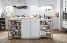 Le rangement scandinave à votre façon. Meuble SKARALID #IKEA #METOD  #cuisine