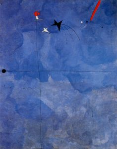 Etoile Blue is so far the most expensibe Joan Miro´s painting ever sold. Read about it and see some blue painting masters. Spanish Painters, Spanish Artists, Joan Miro Paintings, Oil Paintings, Blue Painting, Art Moderne, Oeuvre D'art, Traditional Paintings, Les Oeuvres