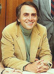 """Carl Sagan-a scientist who exemplfied """"biillions and billions"""" of poignant questions.  He was the driving force behind educating people about the perils of pseudoscience.  He is sorely missed today."""