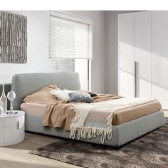He Storm Contemporary Fabric Bed Is A Stunning Piece Of Bedroom Furniture That Makes Bold