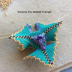 full discussion of how to do these 3D triangles (also follow the links) ~ Seed Bead Tutorials