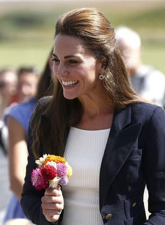 Catherine, Duchess of Cambridge visits the Tresco Abbey Garden on September 2, 2016 in Tresco, England.