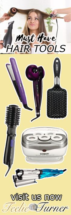"""Teelie's Top Pick Must Have Hair Tools. See more: www.teelieturner.com The hair is often referred to as the """"crowning glory"""" of every person. Its style can make or break your outfit. It is definitely important to maintain its health and shine to add that certain edge factor for your everyday outfit. #hairtools"""