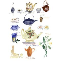 watercolor tea poster