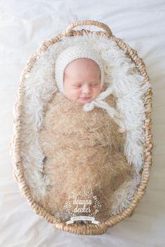 Newborn Bonnet Prop Crochet Simple Bonnet with by BirdieBlueProps