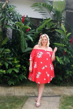 68f724e91e18 Plus Size Bardot Dress Floral Bardot Dress