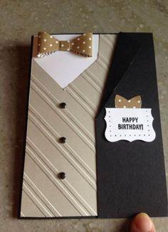 Best Craft Ideas For Men Masculine Cards Ideas - Kaarten Maken Bday Cards, Birthday Cards For Men, Handmade Birthday Cards, Birthday Gifts, Men Birthday, Father Birthday, Boy Birthday Cards, Birthday Ideas, 19th Birthday