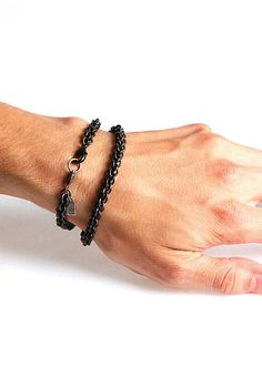 Vim Beget double-wrap silver bracelet.