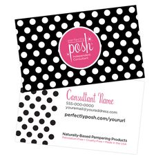 Business Cards: Polka Dotted | Perfectly Posh