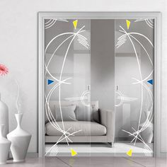 Eclisse D. Murano Design on Clear or Satin Glass Syntesis Double Pocket Door. Double Glass, Doors, Home Decor Decals, Murano, Glass Design, Pocket Doors, Door Design, Home Decor, Glass Pocket Doors