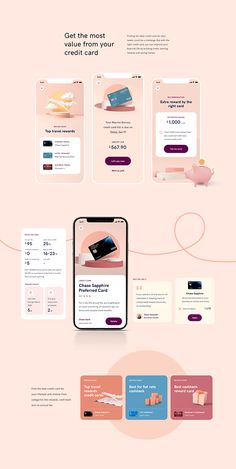 Premium UI Kit consist of 40+ finance app screens which can help you to boost your design process. Including how to find the ideal credit card, apply for loan, some insight into your spending habits, save money with exclusive discounts, cancel unwanted subscriptions and more. Id Card Design, Credit Card Design, Web Design, App Ui Design, Wireframe Design, Dashboard Design, Interface Design, Graphic Design, App Design Inspiration