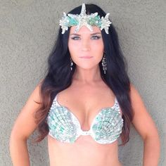 CLEARANCE Ready to ship MERMAID Bra Top and by VivaWonderWoman, $65.00
