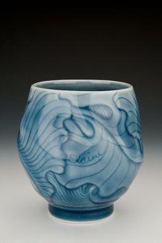 Elaine Coleman; cone 10 reduction, porcelain