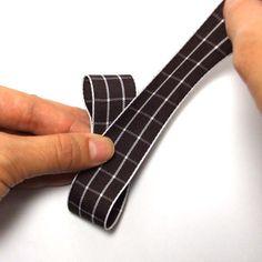 リボンバリエーション・6の作り方(2) Tie Clip, Ribbon, Hair, Hair Bows, Tape, Band, Ribbon Hair Bows, Bows, Bow
