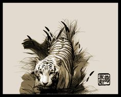 CHINESE PAINTINGS OF TIGERS | Chinese painting tiger | Shop chinese painting tiger sales