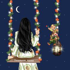 No photo description available. Wallpaper For Whatsapp Dp, Islamic Celebrations, Sarra Art, Mubarak Ramadan, Girl Cartoon Characters, Ramadan Lantern, Hijab Cartoon, Mother Art, Islamic Girl