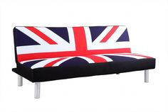 Union Jack Fabric Sofa Bed